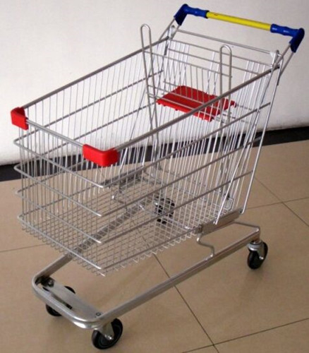 100 Liters Supermarket Shopping Cart Multifuntional Wire Trolley With Wheels Germany Type
