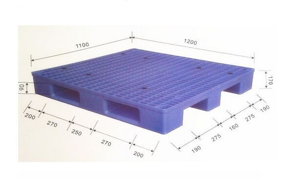 Industrial Warehouse Stackable Plastic Mesh Pallet Single Side Virgin PE Deck
