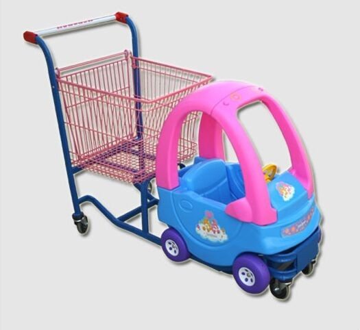 Cozy Coupe Metallic Kids Caddy Supermarket Shopping Cart For Grocery