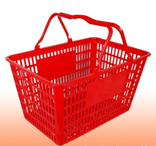 Grocery Store Plastic Hand Shopping Basket Handheld Laundry Basket