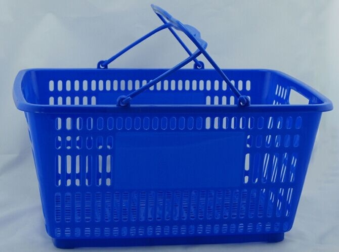 Portable Double Handle Carry Shopping Basket For Retail Store , SGS