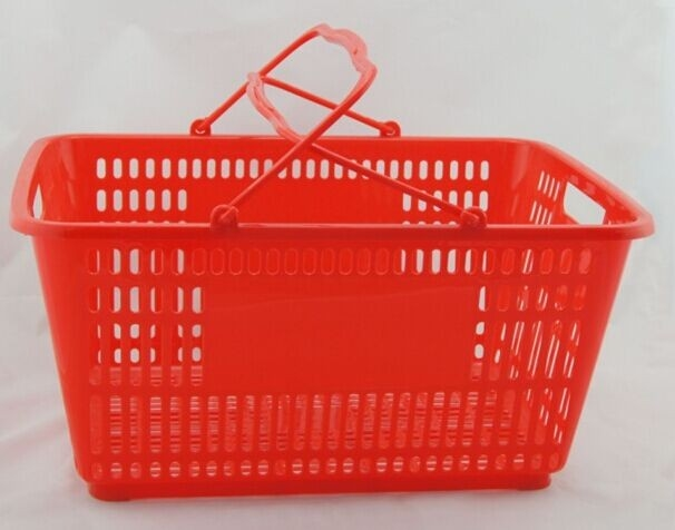 Flexible Plastic Shopping Hand Baskets / Reusable Grocery Shopping Baskets With Handles