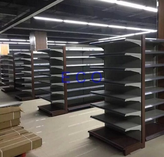 Boltless Supermarket Departmental Store Racks / Cold Rolled Steel End Grocery Store Shelving