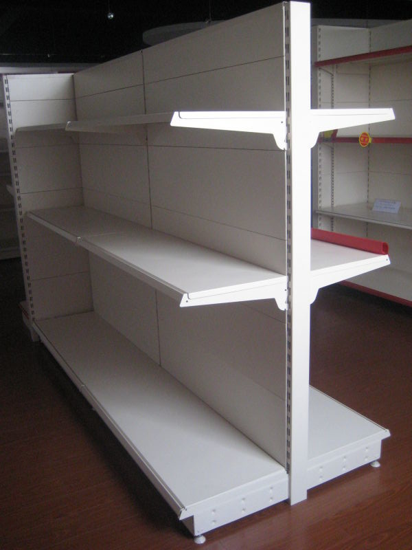 High Grade Steel Supermarket Display Commercial Retail Shelving Goods Backplane Gondola Shelf