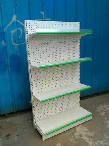 Pegboard Metal Shop Supermarket Display Shelving Durable Cold Rolled Steel
