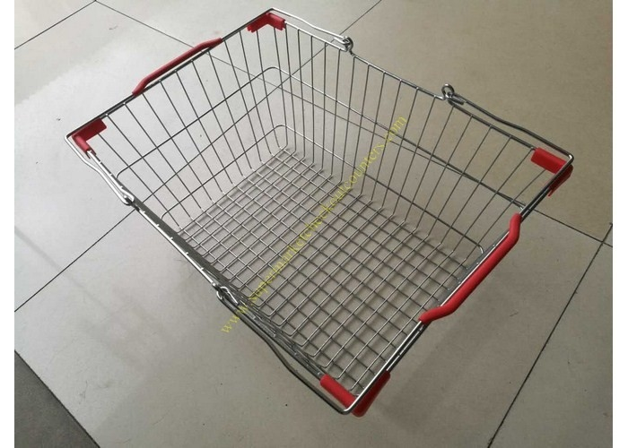 Stackable And Wire Hand  Shopping Basket , Durable Metal Shopping Basket