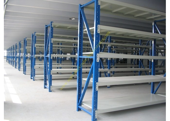 Industrial Warehouse Storage Racks / Steel Metal Display Shelf Rack