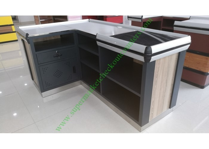 Multi Function Supermarket Cashier Table / Salon Reception Table